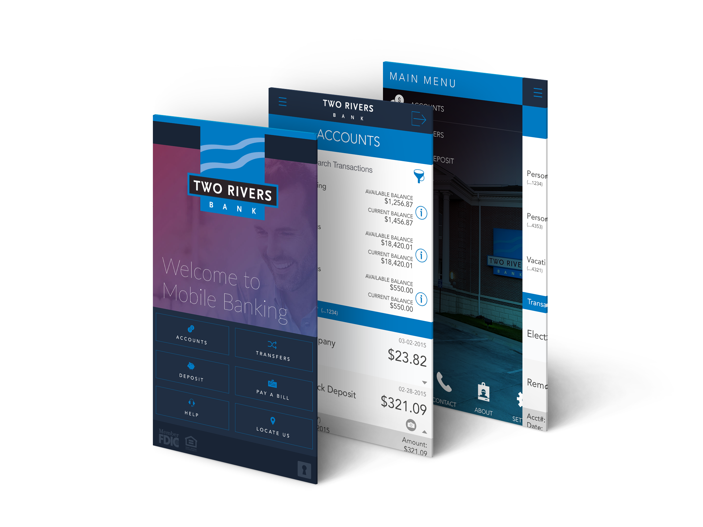 Daniel Falquez - UX Portfolio - Two Rivers Bank