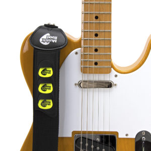 Musick Road Black Guitar Strap Product Design and Branding